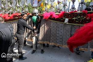 مراسم عزاداری روز عاشورا در روستای بام