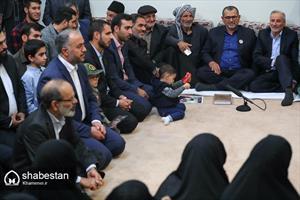 دیدار جمعی از خانوادههای شهدای امنیت