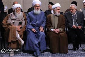 دیدار مسئولان نظام و میهمانان کنفرانس وحدت اسلامى با رهبر انقلاب
