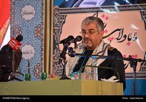 سرلشکر جعفری فرمانده کل سپاه پاسداران انقلاب اسلامی