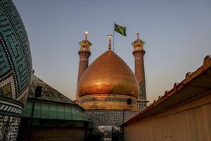 کلیپ/ مراسم تعویض پرچم گنبد حرم حضرت عبدالعظیم حسنی (ع)