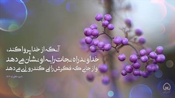 عکس نگاشت/ آنکه از خدا پروا کند...