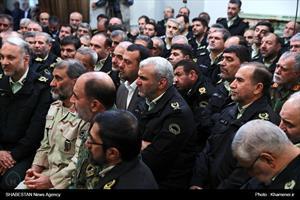 دیدار فرماندهان نیروی انتظامی با رهبر انقلاب