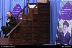 مراسم ترحیم آیتالله هاشمی شاهرودی با حضور رهبر معظم انقلاب