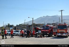 مانور امداد و نجادت در خرم آباد
