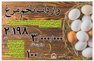 اینفوگرافی/ واردات تخم مرغ