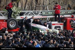 تشییع پیکر آتش نشان شهید سیداحسان جامعی