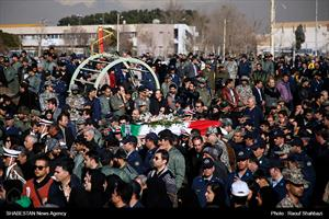 مراسم تشییع شهدای حادثه سقوط بوئینگ ۷۰۷