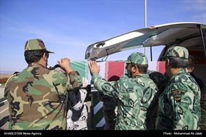 تشییع و تدفین دو شهید گمنام در مجتمع غنی سازی شهید علیمحمدی(فردو)