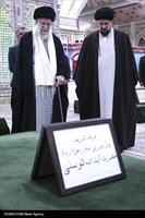 حضور رهبر انقلاب در مرقد مطهر امام راحل و گلزار شهدای بهشت زهرا
