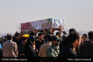 استقبال از شهدای اصفهانی حادثه تروریستی سیستان و بلوچستان