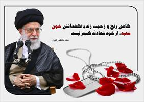 عکس نگاشت/ سخن رهبری درباره شهدا