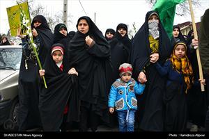 تشییع پیکر شهید حسین جوینده در رشت