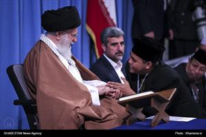 کلیپ/ دیدار شرکتکنندگان در مسابقات بینالمللی  قرآن با رهبر انقلاب
