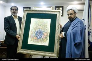 کلیپ/ رونمایی از تابلوی طاووس بهشتی