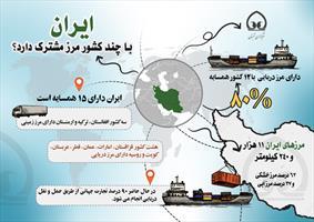 اینفوگرافی / مرزهای مشترک ایران با کشورهای همسایه