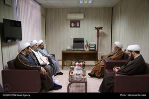 دیدار رییس ستاد هماهنگی کانون های فرهنگی هنری مساجد کشور با آیت اللّه مقتدایی