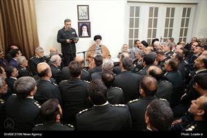 دیدار فرماندهان و مدیران نیروی انتظامی با رهبر انقلاب