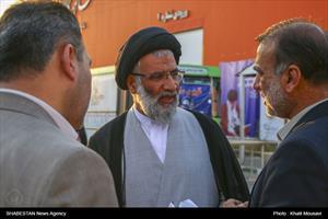 پنجمین روز نمایشگاه قرآن و عترت در اهواز- حجت الاسلام سید عبدالنبی موسوی فرد نماینده ولی فقیه در خوزستان