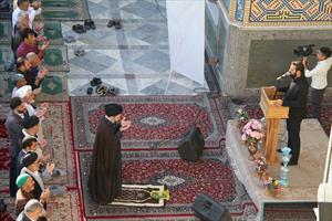 نماز عید سعید فطر در حرم هلال بن علی(ع)