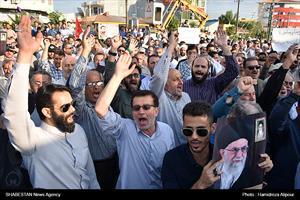 تجمع مردمی در حمایت از بانوی محجبه آمر به معروف در خمام