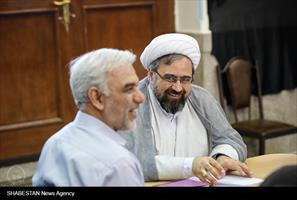 جلسه تعدادی از اعضای شورای هماهنگی بزرگداشت دهه کرامت در آستان حضرت عبدالعظیم حسنی (ع)
