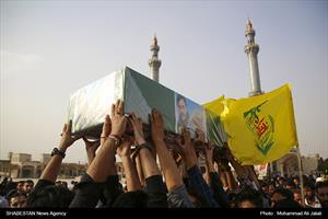 تشییع پيکر دو شهید مدافع حرم در قم
