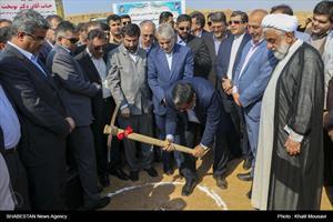 آیین کلنگزنی پروژه احداث ۱۴۰۰ واحد مسکونی در مسجدسلیمان