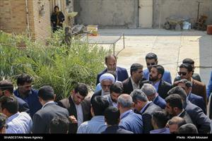 آیین کلنگزنی پروژه احداث ۴۰۰ واحد مسکونی در مسجدسلیمان
