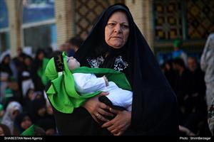 مراسم شیرخوارگان حسینی در قزوین