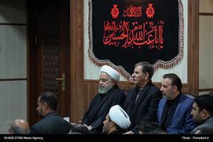 مراسم عزاداری سرور و سالار شهیدان حضرت سید الشهداء(ع) با حضور دکتر روحانی