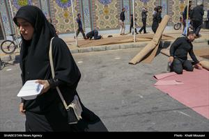 اقامه نماز ظهر عاشورا در مسجد الهادی اهواز