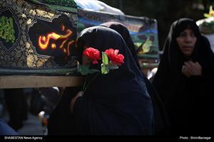 تشییع نمادین شهدای کربلا درقزوین