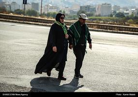 برگزاری پیاده روی جاماندگان اربعین حسینی در خرم آباد