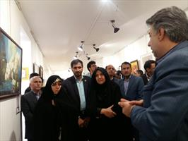 نمایشگاه آثار معلولان در کرمان