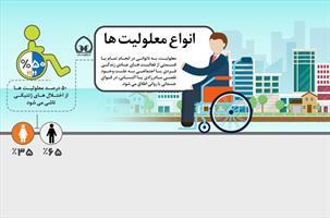 اینفوگرافی | انواع معلولیت