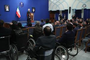 کلیپ | دیدار دکتر روحانی با جمعی از معلولان کشور
