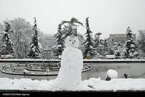 بارش شدید برف در تهران
