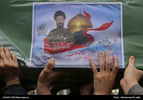 تشییع پيکر شهید مدافع حرم در قم