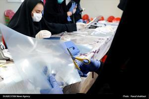 تهیه شیلد های پزشکی توسط گروه های جهادی