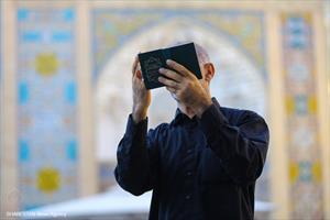 قرائت دعای عرفه در حرم حضرت معصومه (س)