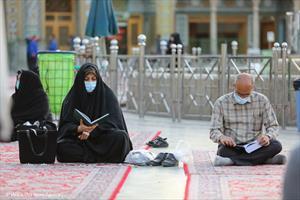 قرائت دعای ندبه در روز عید قربان در آستان فاطمی