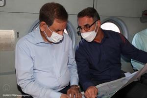 بازدید هوایی معاون اول از طرح ۵۵۰ هزار هکتاری در خوزستان