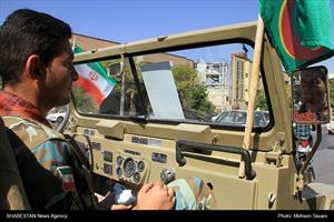 اعزام نمادین به جبهه های دفاع مقدس در شیراز