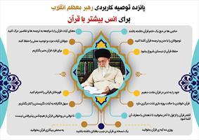 توصیه های کاربردی رهبر انقلاب  برای انس بیشتر با قرآن
